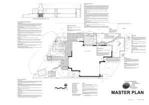 Master Plan sets out various areas, establishes levels and materiality. A robust, accurate document to build from.